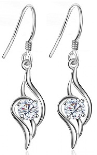 925Silver - Flying Feather - Earring