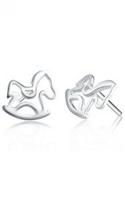 925Silver - Cute Horse - Earring