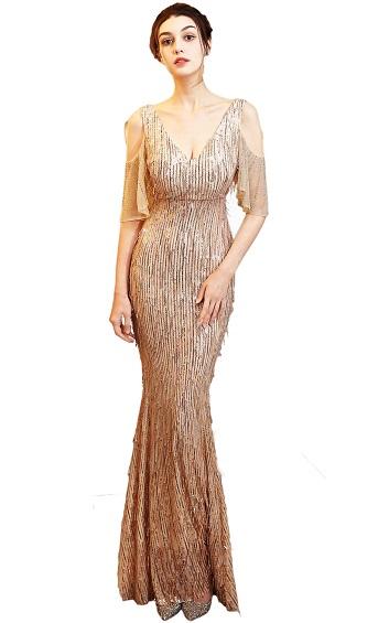 4.5✮- Mermaid Maxi Dress - FKLD18135