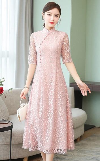 4✮- Midi Dress (Cheongsam) - ECFTY6025