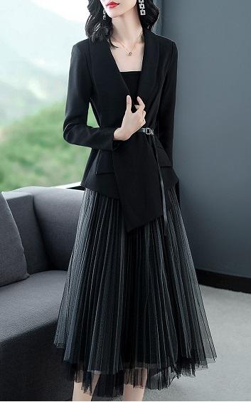4✮- Midi Dress (Cardigan+Skirt) - FAFTY7614