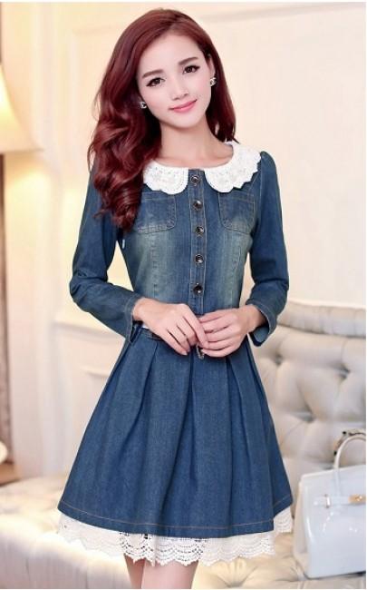 4✮- Denim Mini Dress - FYFM32180