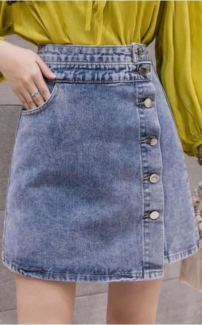 4✮- Denim Mini Skirt - GWFS1274