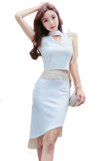 4✮- Bodycon Dress (Top+Skirt) - HEFS4353