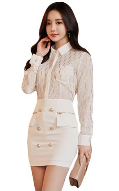 4✮- Top / Bodycon Skirt - HGFS5168