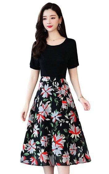 4✮- Knee Dress - HJFS7156