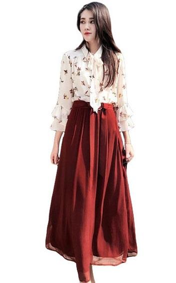 4✮- Maxi Dress (Top+Skirt) - HJFY9244