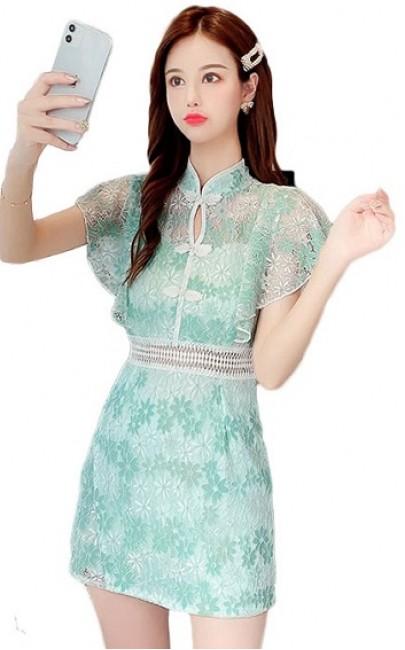 4✮- Set (Cheongsam, Long Top+Shorts) - HZFS15240