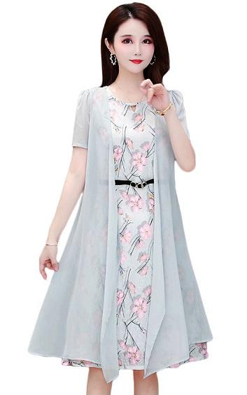 4✮- Knee Dress (With Cardigan) - ICFS17790