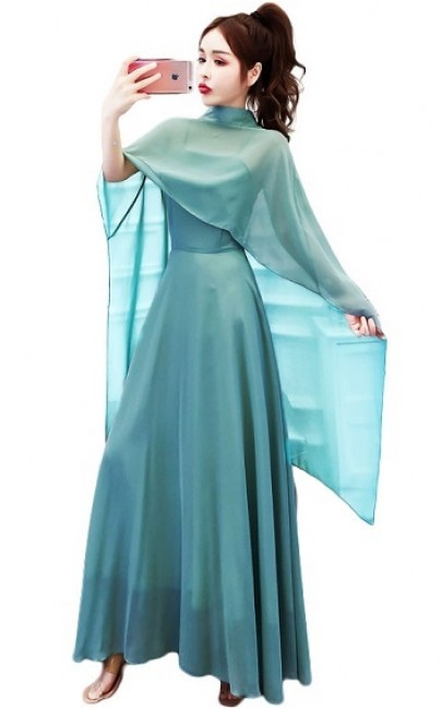 4✮- Maxi Dress (With Capelet) - IIFS22005