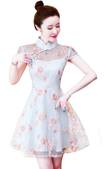 4✮- Mini Dress (Cheongsam) - IIFS22620