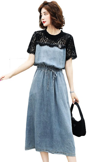 4✮- Denim Midi Dress - IKFS23892