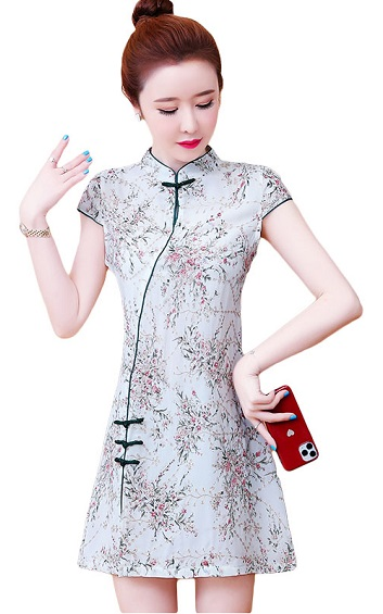 4✮- Mini Dress (Cheongsam) - IMFS25351