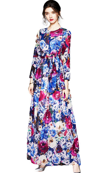 4✮- Maxi Dress (With Scarf) - INFS26253