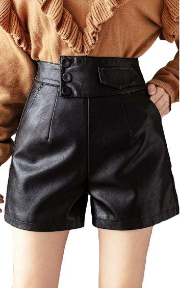 4✮- PU Shorts - INFS26688