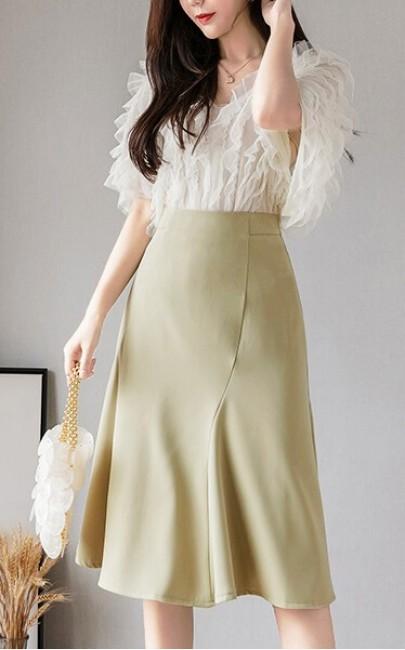 4✮- Knee Skirt - ISFS33819