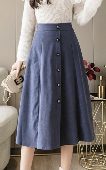 4✮- Knee Skirt ( S-XL ) - IVFS36472