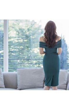 4✮- Bodycon Knee Dress - IWFS38050