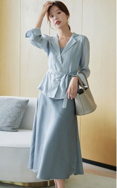 4✮- Midi Dress (With Coat) - IWFS38129