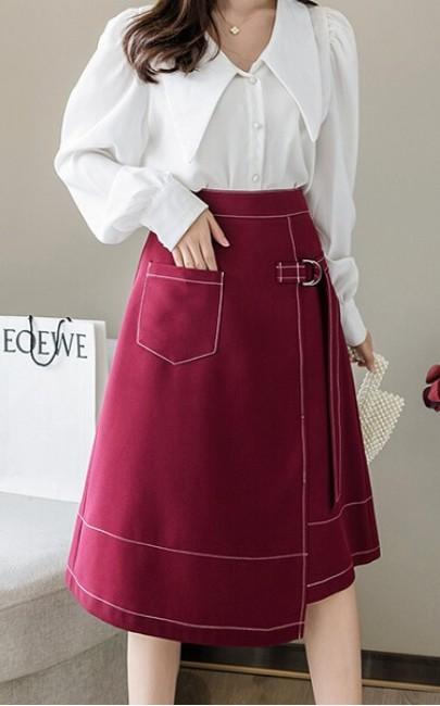 4✮- Knee Skirt - IXFS39539