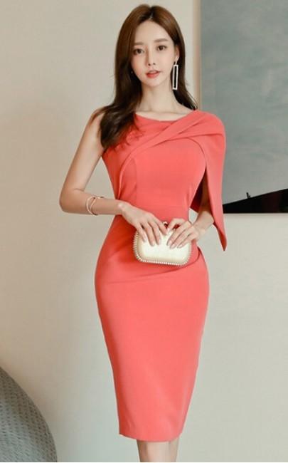 4✮- Bodycon Knee Dress - JAFS42185