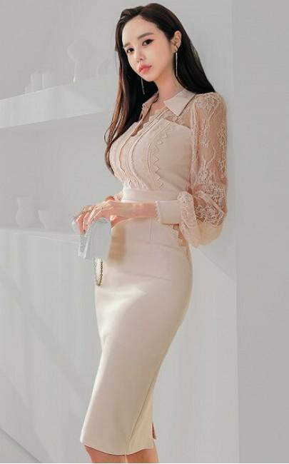 4✮- Bodycon Knee Dress - JIFS51009