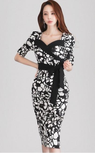 4✮- Bodycon Knee Dress - JJFS51960