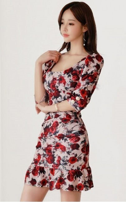 4✮- Bodycon Mini Dress - JJFS51996