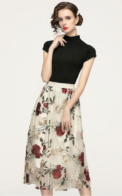4✮- Midi Dress (Top+Skirt) - JJFS52272