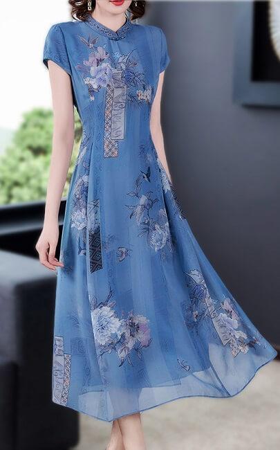 4✮- Midi Dress (Cheongsam) - JLFS55686