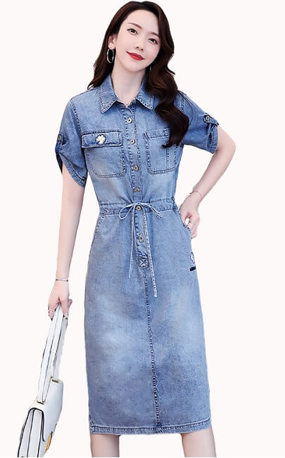 4✮- Denim Knee Dress - JMFS56550