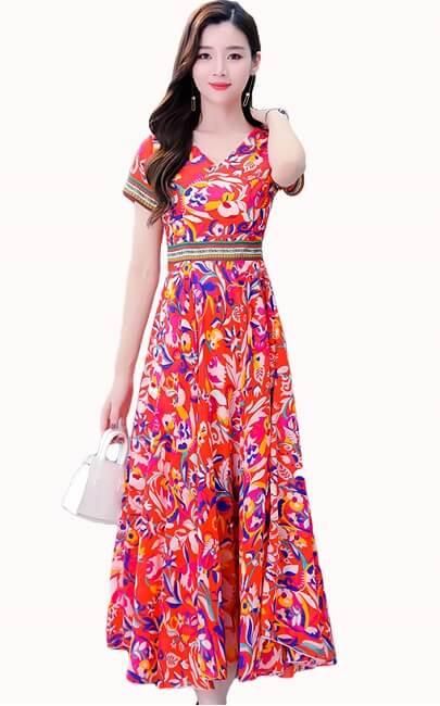 4✮- Midi Dress - JMFS56651