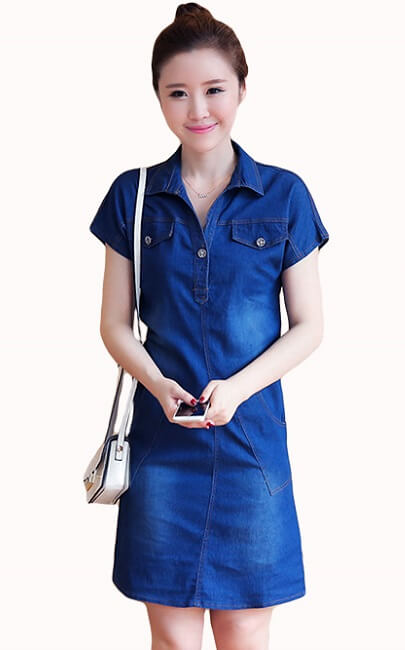 4✮- Denim Dress (Small Cutting) - JMFY13365