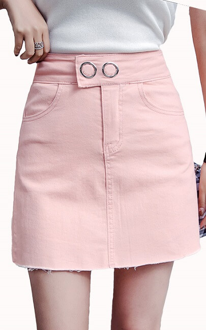 4✮- Denim Mini Skirt - JNFS56855