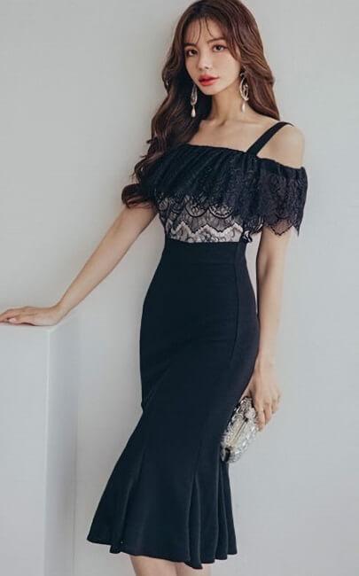 4✮- Mermaid Knee Dress - JXFRS8625