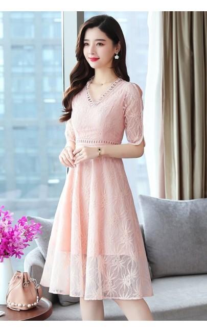 4✮- Knee Dress (Small Cutting) - KAFRS12709