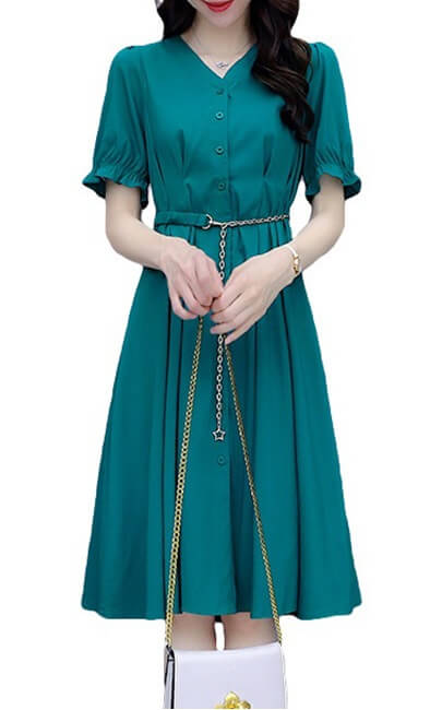 4✮- Knee Dress - KDFRS17444