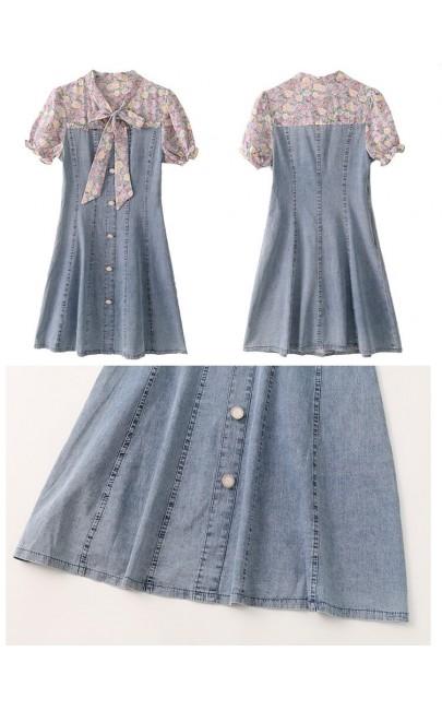 4✮- Denim Dress - KDFRS17587