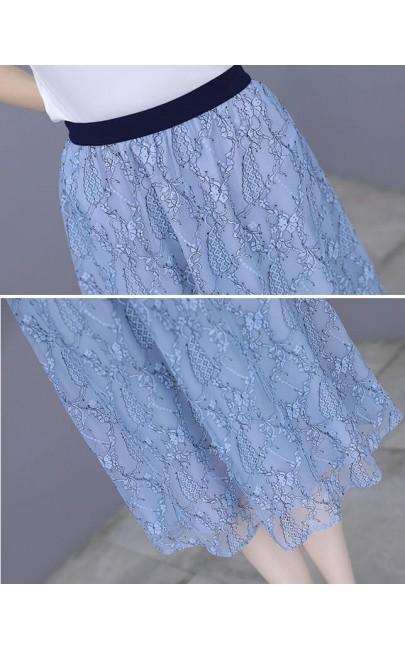 4✮- Knee Dress (Top+Skirt) - KEFRS18515