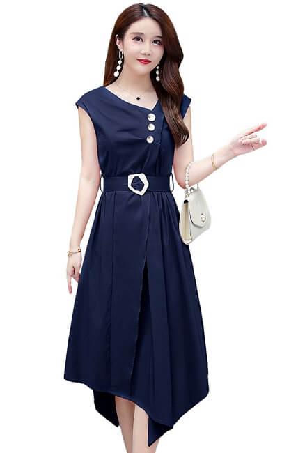 4✮- Knee Dress - KJFRS27445