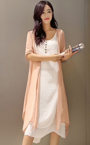 3✮- Dress (With Cardigan, M-5XL) - ZFFTY6644