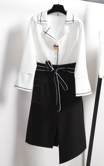 4✮- Knee Dress (Top+Skirt) - ZTFT85827