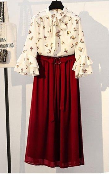 4✮- Midi Dress (Top+Skirt) - ZTFT85828