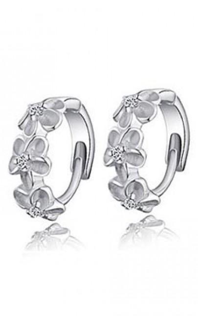 Silver - Earring - YJJ042
