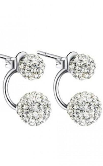 Silver - Earring - YJJ045