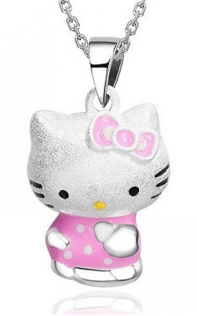 Silver - Hello Kitty Necklace - YJJ053