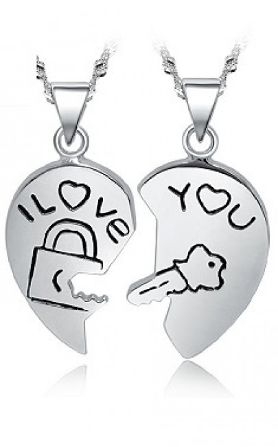 Couple Necklace  - Silver - YJJ060