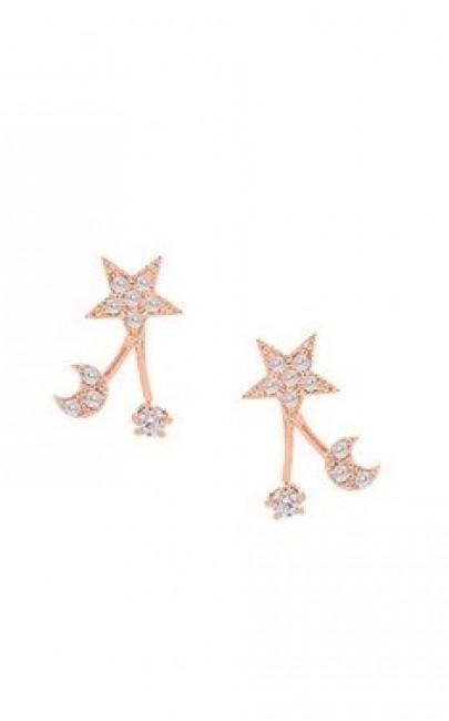 Silver - Stars Earring - YJJ063