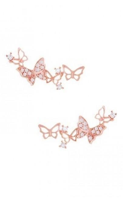 Silver - Butterfly Earring - YJJ064