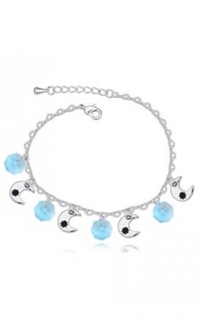 White Gold / Crystal - Bracelet  - YSJ034